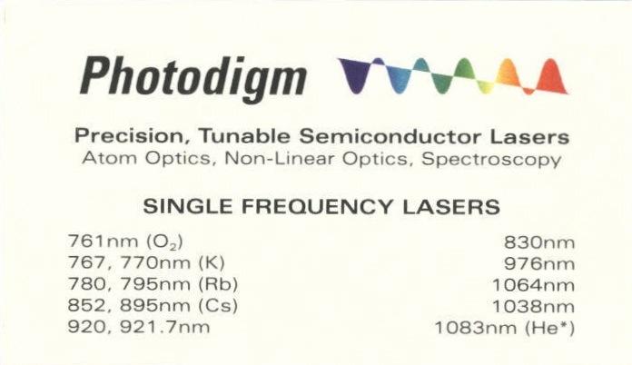 Back of Photodigm business card